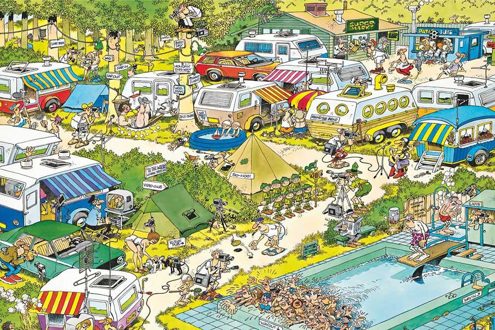 Camping Chaos Jan Van Haasteren Puzzels