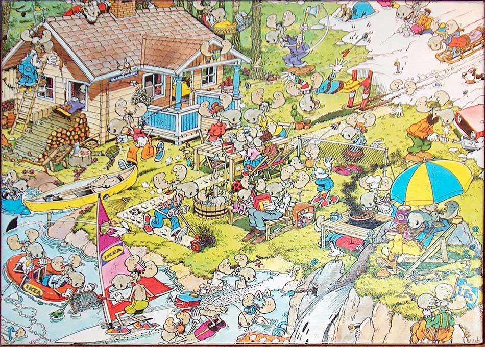 Glasvitrine Zum Hängen Ikea ~ 500 st pc  Jan van Haasteren puzzels