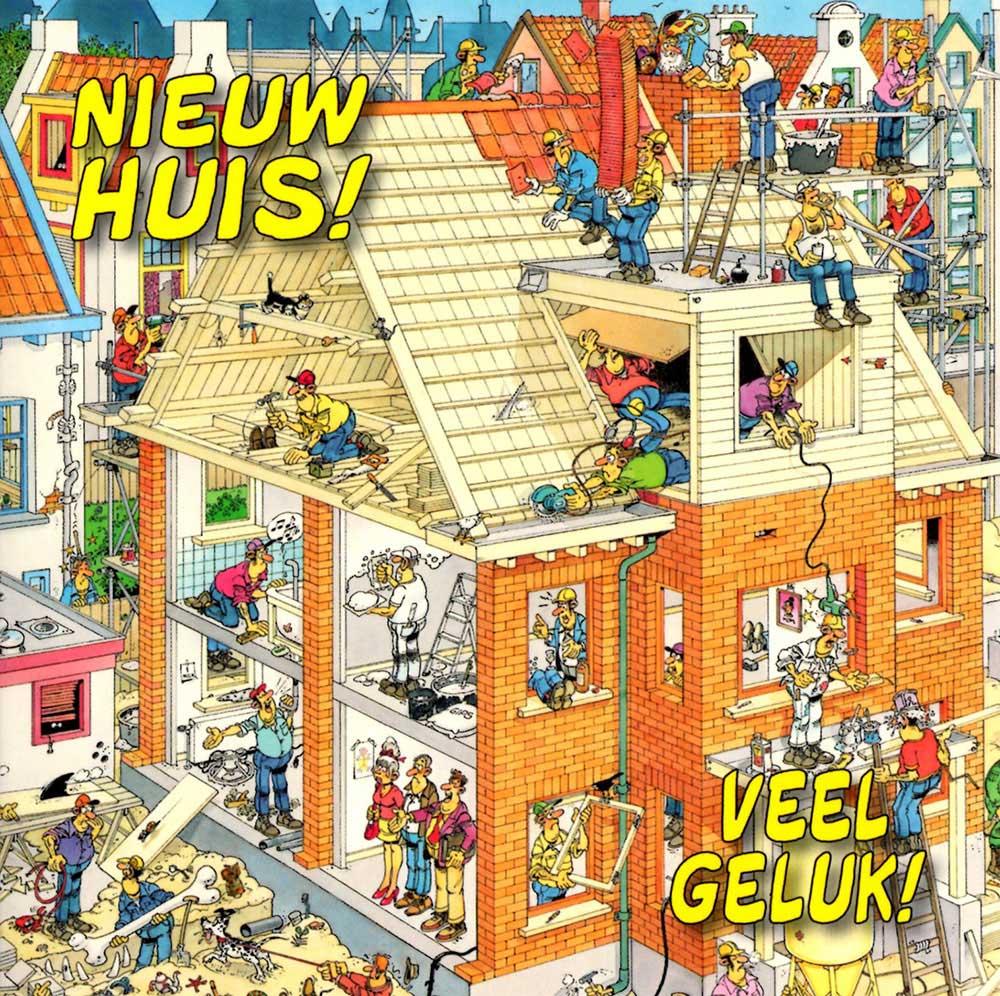 Wenskaart nieuw huis jan van haasteren puzzels - Nieuw huis ...